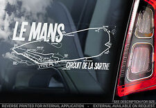 Le Mans - Car Window Sticker - La Sarthe Circuit des 24 Hours Formula 1 Track F1