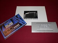 1980 LINCOLN VERSAILLES BROCHURE + 80 PAINT CHIPS FOLDER & SOUND SYSTEMS CATALOG