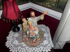 large religious Figurine Of Jesus & Children By Homco Made In Mexico