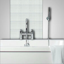 WHITE Glass Mosaic Tiles Bathrooms Kitchens Wall Floor SAMPLE 4U-160