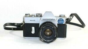 Mamiya/Sekor 1000 DTL 35MM SLR FILM CAMERA 50MM F2 Mamiya lens Parts or Repair