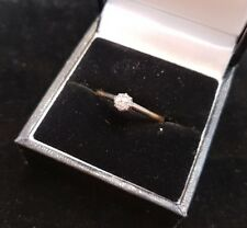 An 18ct Gold Diamond Solitaire Engagement Ring. Set in Platinum. Size P.