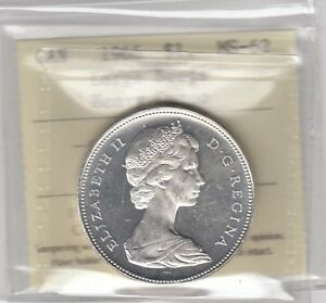1966 Canada Silver Dollar - Large Beads - Heavy Cameo - ICCS MS-62 Cert# XDS025