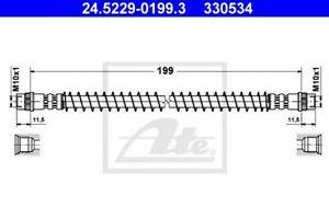 Flexible de frein CITROËN AX (ZA-_) CHANSON (S0, S1) SAXO (S0, S1), PEUGEOT 106