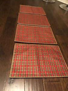 Christmas Plaid Placemats Set Of 4