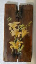 Floral Decoupage On Wood. Signed