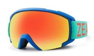 NEW Zeal Slate Blue Red Mirror Mens OTG Ski Snowboard Goggles Msrp$130