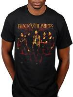 Official Black Veil Brides Fire T-Shirt Rock Band Inferno Badge Skull BVB