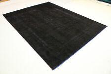 Orient tapis Vintage noir moderne 380x290 black Tapis noué à la main 3506