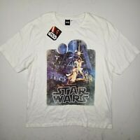 NWT Men's Star Wars White Tee Size XL T-Shirt Retro  - SG13