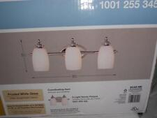 Hampton Bay  3-Light Chrome Bath Bar Light with Frosted White Glass # 1001255345
