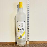 "KETEL ONE Vodka Bottle 22"" Tall 4.5L Bar Huge Glass Display Bottle Empty"
