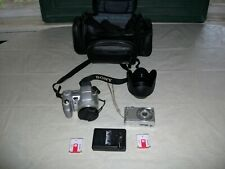 Sony Dsc-H7 & Dsc-W35 Digital Cameras W/ 2 Batteries + Charger + Bag