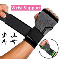 Copper Wrist Hand Brace Support Strap Carpal Tunnel Splint Sprain Arthritis Pain