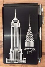 #1549 Wellspring Flip Note w/Pen-New York City-Empire State & Chrysler Buildings