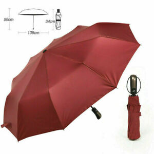 10 Ribs Portable Strong Frame Umbrella Automatic Open Folding Compact Windproof