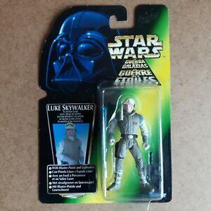 "Star Wars Power Of The Force Luke Skywalker in Hoth Gear 3.75"" Action Figure Tri"
