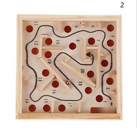 1x Kinder Lernspielzeug Holz Puzzle Spielzeug Gehirn Teaser;B il