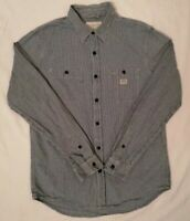 Ralph Lauren Denim Supply Mens Long Sleeve Gingham Check Black White Size M