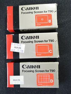 CANON T90 FOCUSING SCREENS, SET OF 3