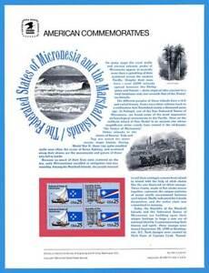 USPS Commémorative Panneau #354 Micronesia & Marshall Island #2506-7