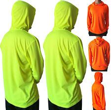 2pcs Hi Vis High Visibility Safety Construction Work Long Sleeve T Shirt Hood