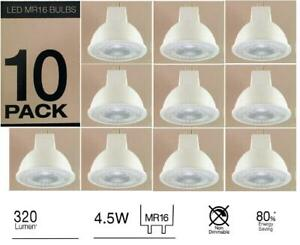 10 x Luce Bella MR16 LED Bulbs Globes 320lm 4.5W 80% Energy Saving Warm White