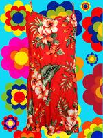 73✪ 60er 70er Jahre Indian Gipsy Hawaii Blumen Kleid Hippie Boho beachparty