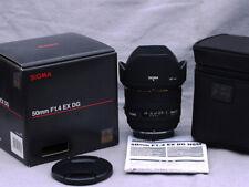 SIGMA / OLYMPUS PRIME 50mm f1.4 EX DG HSM 4/3rds (FOUR THIRDS) mount MINT