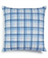 Charter Club Embroidered Decorative Pillow Damask Designs Blue L91194