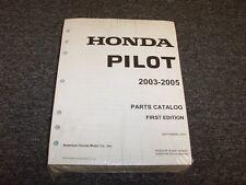 2003 2004 2005 Honda Pilot Factory Parts Catalog Manual LX EX EX-L 3.5L V6
