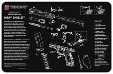 Smith & Wesson M&P Shield Armorers Gun Cleaning Bench Mat Exploded Schematic