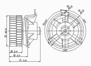 HVAC Blower Motor Front TYC 700069
