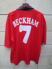 Maillot MANCHESTER UNITED vintage BECKHAM n°7 shirt collection SHARP XL