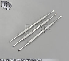 3 Pcs Dental Tartar Calculus Plaque Removal Veterinary Teath Cleaning Hand Tools