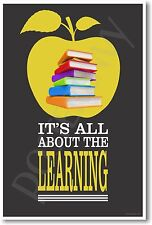 It's All About The Learning - NEW Classroom Motivational Poster