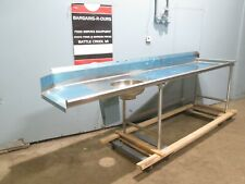 Eagle Hd Commercial Nsf Ss 120w Right Side Dirty Dish Washing Table Withsink