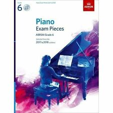 Piano Exam Pieces 2017 & 2018  ABRSM Grade 6  with CD New Sheet music Book