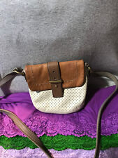 Fossil Mini Mason Saddle & Bone Colorblock CanningLeather Flap SnapCrossbody