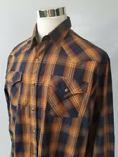 Pendleton Frontier Mens Plaid Western Pearl Snap Button Front Shirt Size XL