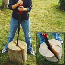Heavy Duty Slide Hammer Manual Hand Wedge Log Splitter Fire Wood Steel Outdoor