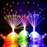1/5Pcs Colorful LED Whale Fiber Optic Finger Flashing Light Kids Party Toy Gift