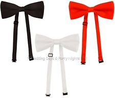 Tied Satin Dicky Bow Tie Fancy Dress Mens Ladies Halloween Dickie Bowtie Vampire