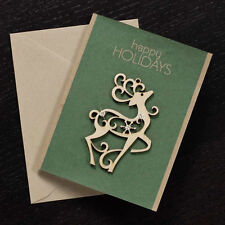 Flourish Ornament Christmas Card - REINDEER - #D56-FLR-C-4034285