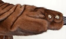 US600 Nice Mink Fur Coat Jacket pelliccia di visone Demi Buff Nerzmantel ca. XL