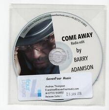 (IW525) Barry Adamson, Come Away - 2016 DJ CD