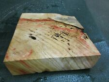FF- FLAME BOX ELDER BURL  DELUXE KNIFE BLOCK/SCALES/ CALLS/ PEN BLANKS--F--D