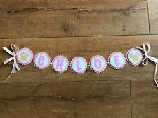 Pink & Gold Minnie Mouse Personalised Banner for Birthdays, Baby Shower