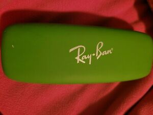 Ray-Ban Eye Glasses Sun Glasses Hard Case Green Clam Shell (adult)