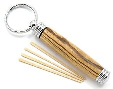 Wood Toothpick Holder Keychain - Secret Stash Handmade Woodturning (AS-SC-04)